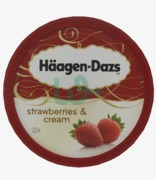 Haagen Dazs Strawberries & Cream Tub