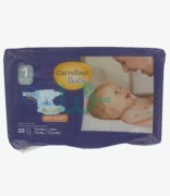 Carrefour Baby New Born Nappies 2-5kg  X