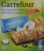 Carrefour Chocolate And Cocount Cereal Bar Pack X