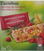 Carrefour Mirtillo Rosso Cereals Bar