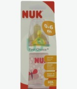 NUK First Chioce Red And White Hearts Less Colic Bottle 0-6 Months