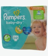 Pampers Baby Dry 6+ Extra Large
