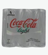 Coca Cola Light Cans X6