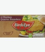 Birds Eye 4 Chicken Qyarter Pounders