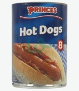 Princes 8 Hot Dogs In Brine