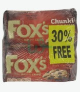 Fox's Dark Chocolate Chunkie Cookies 30% Free