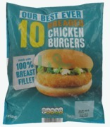 Iceland Breaded Chicken Burgers X 10