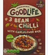 Good Life 3 Bean Chili With Cauliflower Rice