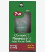Bell Compact Flourescent Mini Round Bulb Ses 7w E14