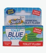 Swirl Toilet Blue Blocks