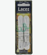 Shoe String Laces White Flat 100cm