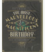 Clintons Marvellous & Magnificent Birthday Card