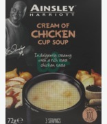 Ainsley Cup Soup Cream Of Chicken 3 Servings