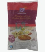 Golden Foods Southern Fried Crispy Chicken Breast Fillets Fully Cooked