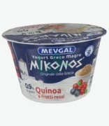 Mevgal Mikonos Greek Yoghurt 0.9% Fats Quinoa & Red Fruits