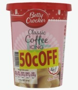 Betty Crocker Classic Coffee Icing 50c Off