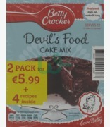 Betty Crocker Devil's Food Cake Mix 2 Pack Only €5.99