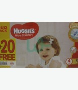 Huggies Ultra Comfort Nappies Special Offer 80 + 20 Free