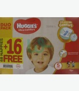 Huggies Ultra Comfort No 5 ( 11-25kg) Special Offer 68 + 16 Free