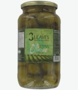 3 Leaves Pitted Green Olives In Brine