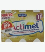 Danone Actimel .1% Ginseng 50c Off