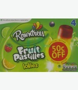 Rowntree's Fruit Pastrilles Lollies 50c Off