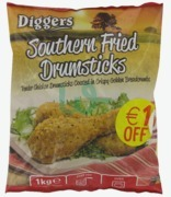 Diggers Southern Fried Drumsticks €1 Off