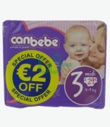 Canbebe Nappies Midi N3 €2 Off
