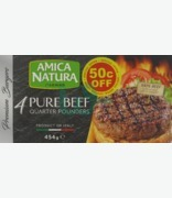 Amica Natura 4 Pure Beef Quarter Pounders €0.50c Off