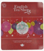 Christmas English Tea Shop Holiday Red Baubles Tin