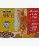 Friskies In Gravy With Chicken, Rabbit, Turkey & Liver And Beef