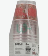 Perla Festa Disposable Red & Gold Cups 25cl