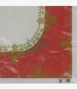 Bbs Red & Gold Napkins