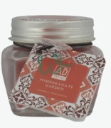 AD Trend Scented Candle Glass Metal Top Arabesque Pomegranate Garden