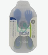 Nuvita Spoon + Fork Blue