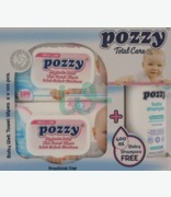 Pozzy Total Care 2x120 Wipes + Free Shampoo