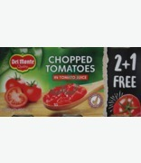 Del Monte Chopped Tomatoes In Tomato Juice 2+1 Free